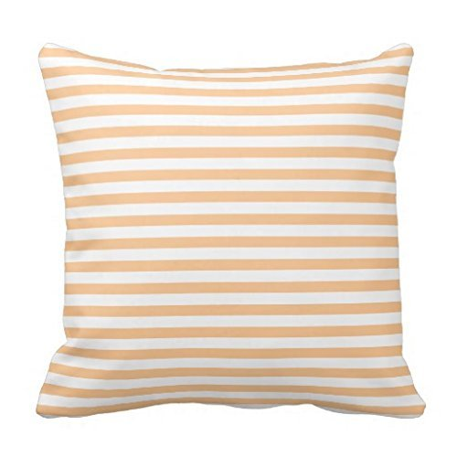 Peach Orange Bold Lines Pillow - Ysl Bold