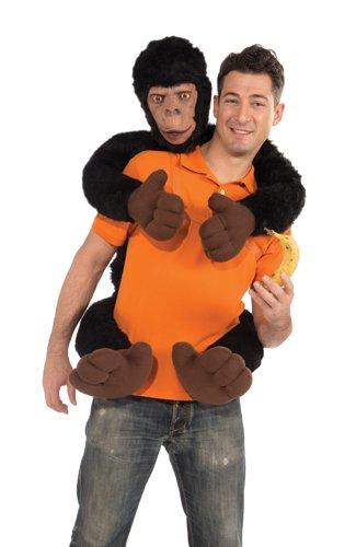 Forum Novelties Men's Monkey On My Back Costume Prop, Brown, (Monkey On My Back Funny Costumes)