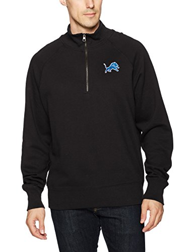 - NFL Detroit Lions Men's OTS Fleece 1/4-Zip Pullover, Jet Black, Large