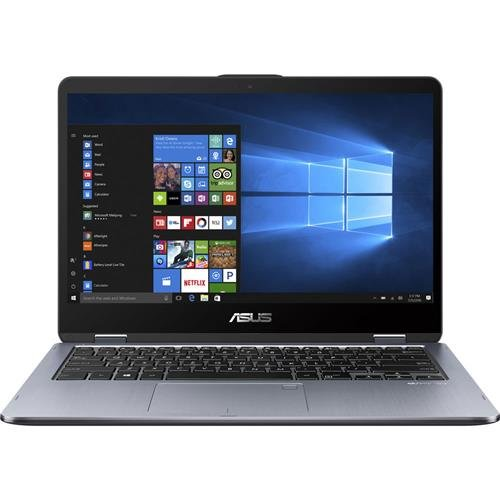 "ASUS VivoBook Flip 14 TP410UA-DS52T 14"" Thin and Lightweight 2-in-1 Full HD Touchscreen Laptop Intel Core i5-8250U processor up to 3.4GHz 8GB DDR4 RAM 1TB Hybrid HDDWindows 10 HomeStylus Included"