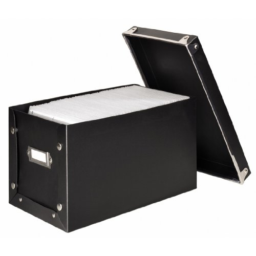 Media Box Storage Case for 150 CDs/DVDs - black by Hama