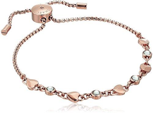 """Michael Kors """"Logo"""" Logo Love Rose Gold Tone Slider Bracelet"""