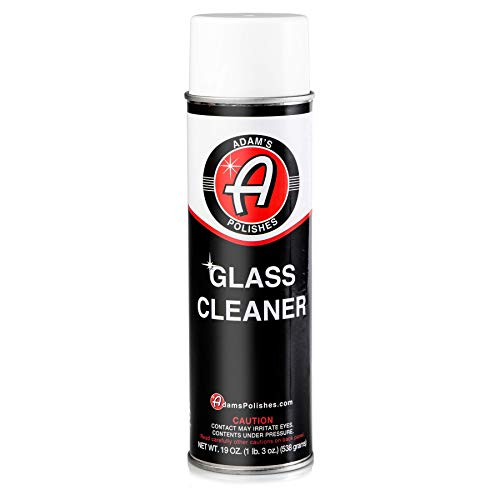 (Adam's Aerosol Glass Cleaner 19oz - Safe on Interior and Exterior Glass, Mirrors, and Around The House - Non Steak, Foaming Formula)