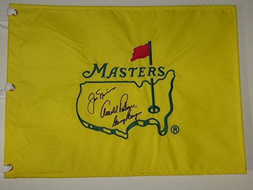 ARNOLD PALMER JACK NICKLAUS GARY PLAYER Signed MASTERS FLAG PSA DNA by Inkster Sports
