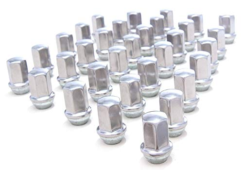 - EZDealin 32 Piece Stainless Steel Polished 14x1.5 OEM Factory Style Replacement Lug Nuts fits 2000-2019 Chevy Silverado Suburban 2500 3500 8-Lug Trucks SUVs Wheel Nut Set