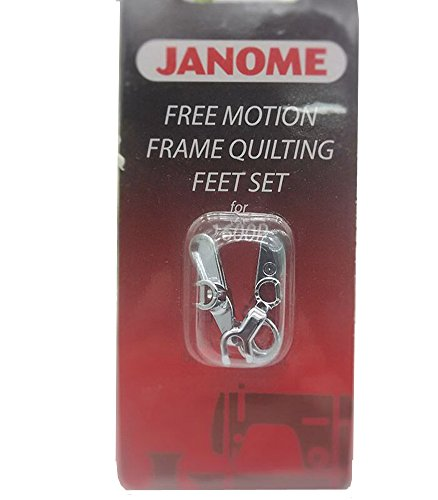 HONEYSEW Free Motion Frame Quilting Feet Set for Janome 1600P Ruler Foot Convertible 767434005 ()