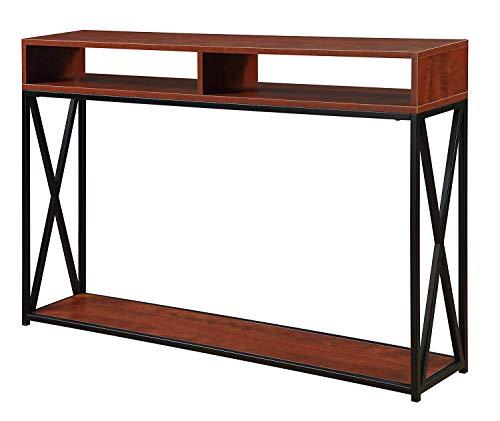 Convenience Concepts Tucson Deluxe 2-Tier Console Table, Cherry/Black
