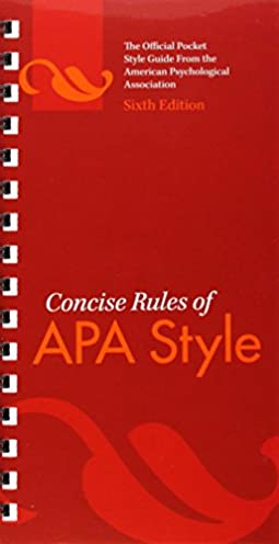 amazon com concise rules of apa style 0884485824340 american rh amazon com apa style guide book amazon APA Style Format Sample Paper