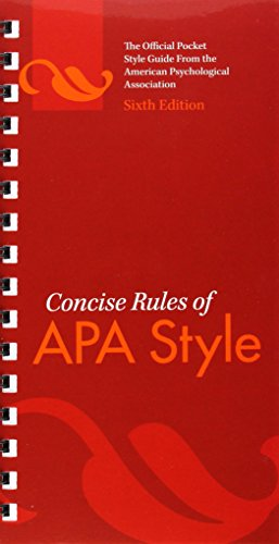 - Concise Rules of APA Style
