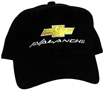 Chevy AVALANCHE Truck Fine Embroidered Hat Cap, Solid Black
