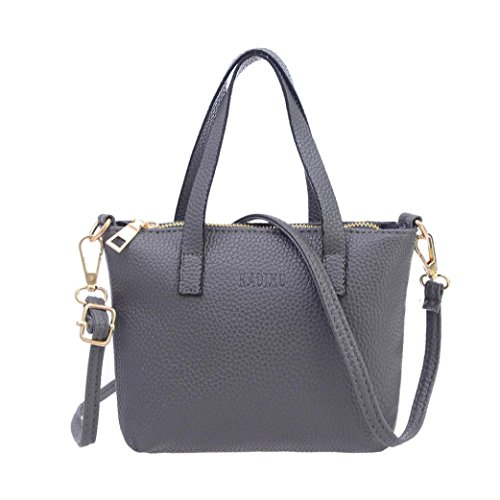 Price comparison product image Clearance!Women Bag, Todaies Women Fashion Handbag Shoulder Bag Tote Ladies Purse Gray,  Black, Red, Green Colors 2018 (20cm3.5cm15cm,  Gray)