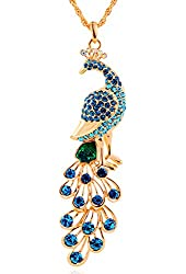 18k Gold Plated Peacock Pendant Necklace Women's Fashion