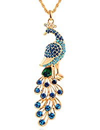 18k Gold Plated Peacock Pendant Necklace Women's Fashion by NYKKOLA