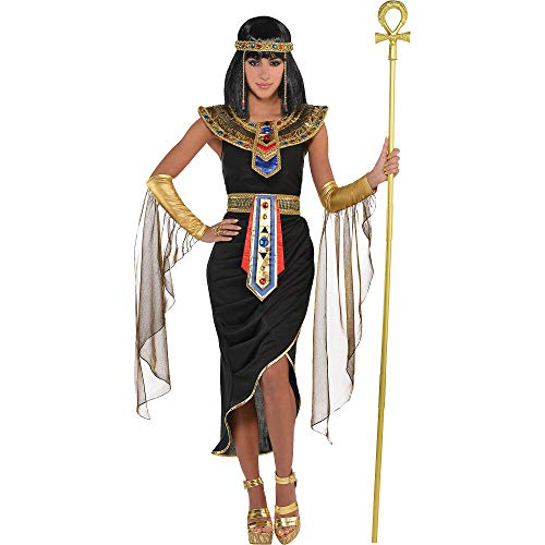 Suit Yourself Egyptian Queen Cleopatra Costume for Adults, Size Large, Includes a Dress, a Headpiece, a Collar, and More -