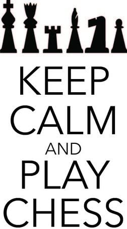 """Keep Calm and Play Chess 10/""""x20/"""" CH2 Vinyl Wall Decal // Sticker"""