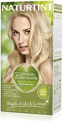 Naturtint | Coloración sin amoniaco | 100% cobertura de canas | Ingredientes vegetales | Color natural y duradero | 10N Rubio Alba | 170ml
