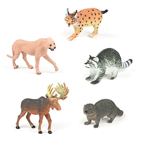 Set of 5 Realistic Animal Toy Figures 7