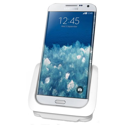 RND Dock for Samsung Galaxy S6 and S6 Edge with USB port (compatible with or without a slim-fit case) (white)