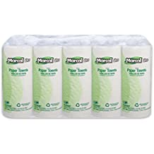 Marcal 100% Recycled Paper Towel Roll, 2-Ply Perforated, White