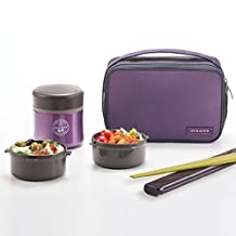 [Lock & Lock] Hot & Cool MIME Stainless Steel Vacuum Lunch Box (350ml) LHC937V (VIOLET)