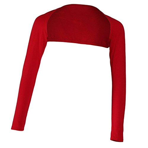 Primaverile Donna Glamorous Monocromo Haidean Lunghe Eleganti Bolero Cardigan Maniche Semplice Rot Camicetta Estivi Giacche qf45wtC4