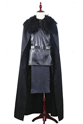 [Game of Thrones Jon Snow the Night Watch Costume Halloween Party Cosplay (Small)] (Night Watch Costumes)