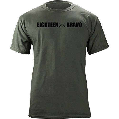 Forces T-shirt Army Special - Army Special Forces Weapons MOS 18 Bravo 18B Veteran T-Shirt (2XL, Green)
