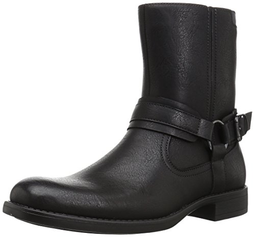 (RW by Robert Wayne  Men's Conroy Motorcycle Boot, black, 8.5 D US)