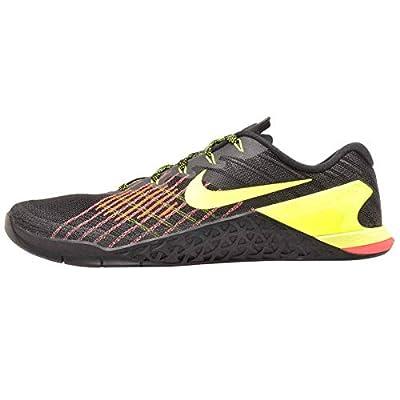 Nike Men's Metcon 3 Training Shoe Black/Volt-Hyper Crimson-HOT Punch 7.5