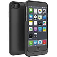 iPhone 7 / iPhone 8 Battery Case, Yuqoka 3200mAh Portable External Charging Case Power Bank MFi Certified Extended Battery Backup Rechargeable Charger Cover for iPhone 7 / iPhone 8 (4.7 Inch)- Black