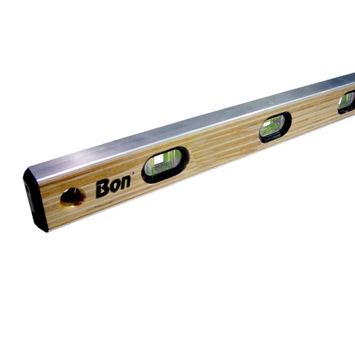 Bon 21-395 24-Inch Laminated American Hardwood Aluminum I-Beam Level, Yellow ()