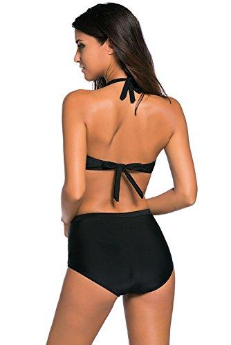 Aodicon Damen Bikini-Set schwarz schwarz