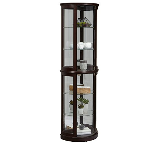 Pulaski Cherry Half Round Curio Cabinet, 22'' x 12'' x 72'' by Pulaski