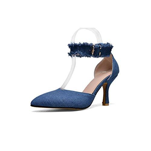 Bleu AdeeSu Bleu Compensées 5 Femme SLC03980 36 EU Sandales wZwBT