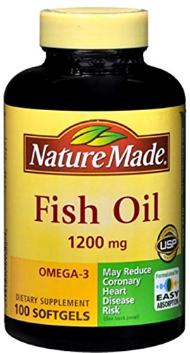 Nature Made Fish Oil 1200 mg Softgels 100 ea (Pack of 9) by Nature Made