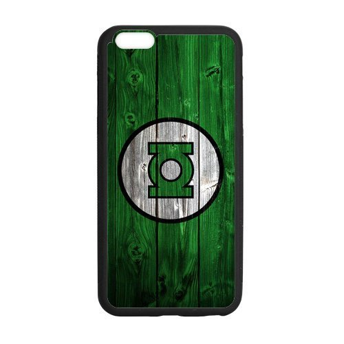 FEEL.Q- Personalized Protective TPU Rubber Cell Phone Case Cover for iPhone 6 / 6S, Marvel Avengers Superhero Green Lantern Symbol Logo