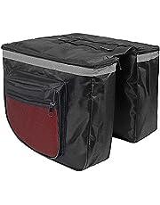 Retoo 28 liter dubbele bagagedragertas met handgreep, fietstas, dubbele tas voor bagagedrager, fietstas, racefiets, achterwieltas, fietstas, rugzak, kofferbaktas, zwart