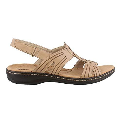 (CLARKS Women's Leisa Vine Sand Leather 6 C US)