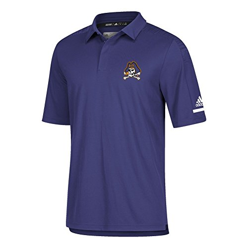 adidas ECU East Carolina University Men's Polo Coaches Short Sleeve (XX-Large)