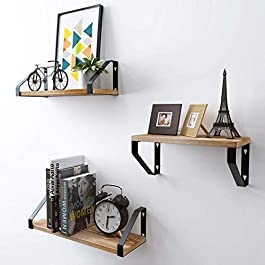 Homemaxs Floating Shelves Wall Mounted Set of 3, N...