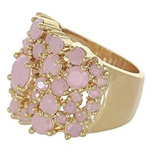 Venus Accessories Women's Gold Plated Brass Ring - 10 US