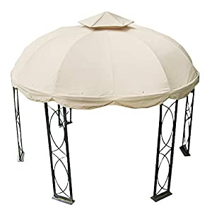 Garden Winds 12 FT Round Replacement Canopy Top Cover -RipLock 350