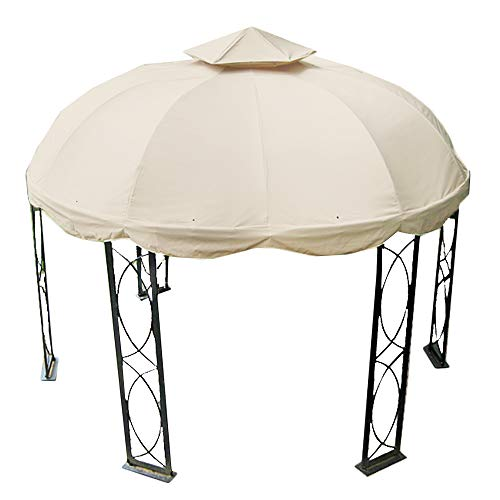 Garden Winds 12 FT Round Replacement Canopy-RipLock 350