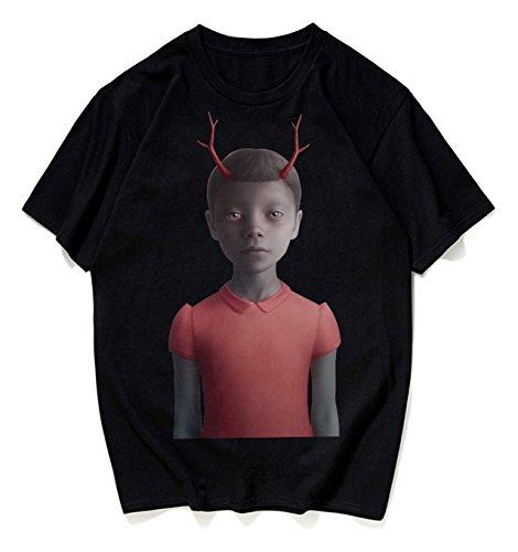 Carina Pizoff Hip shirt Stampa T Divertente Y1872 black Unisex Hop Streetwear Oversize Cotone In TwrZYIrx