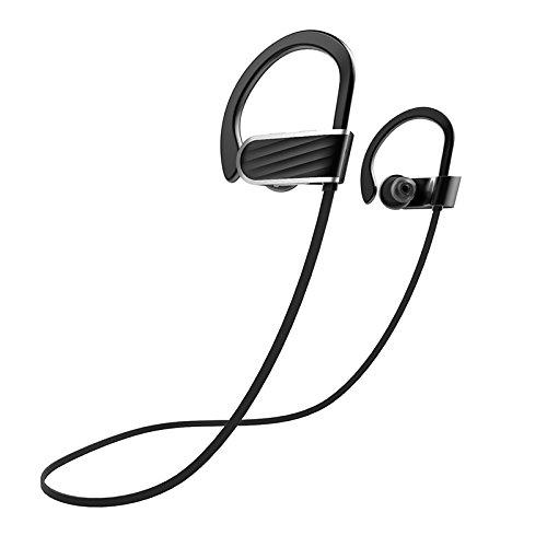 SODIAL Best Wireless Sport Headphones w/Mic IPX7 Waterproof