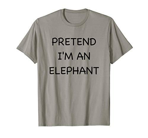 Lazy Elephant Shirt Funny Easy Fast Halloween