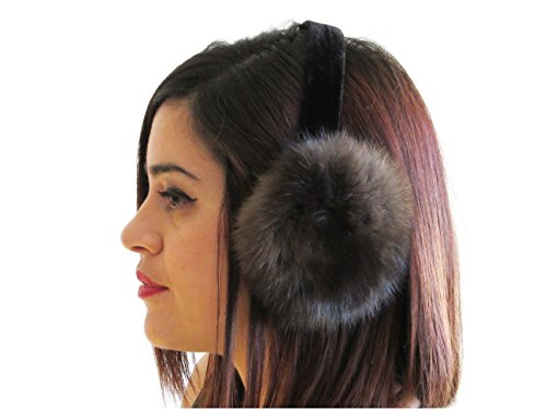 Natural Russian Sable Ear Muffs by FursNewYork