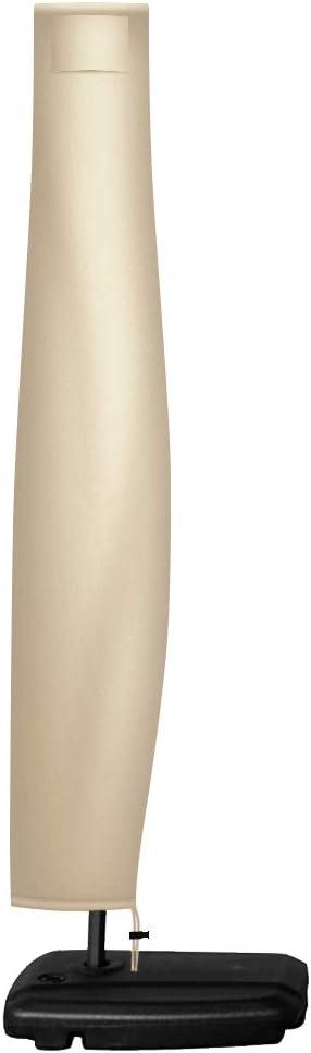 Flashbee Funda para Parasol,Cubierta Sombrilla para Exteriores,Protectora para Sombrilla Jardín Patio de Tela Oxford 420D Impermeable con Cremallera, Cubierta Funda Protectora para Parasol, 2.4m