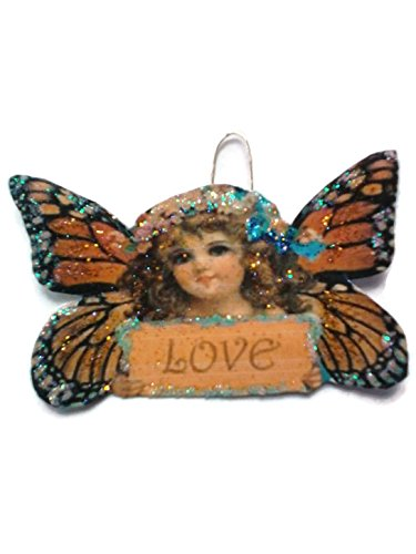 Monarch Butterfly Fairy Ornament Decoration Woodland Garden Love Nymph