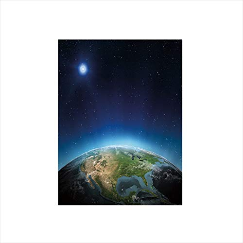 - Decorative Privacy Window Film/North America Continent on Globe Earth Galaxy Milky Way Realistic View Decorative/No-Glue Self Static Cling for Home Bedroom Bathroom Kitchen Office Decor Indigo Light B